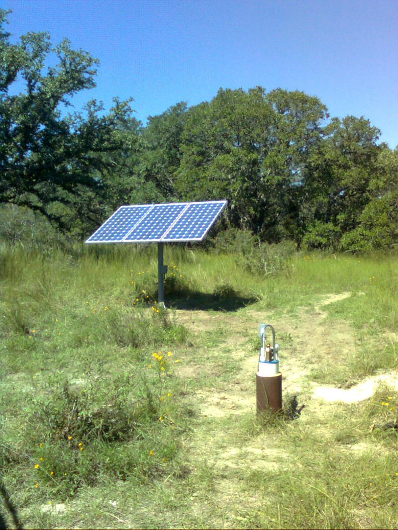 Solar Pump and Panel Water Well Install